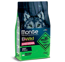 Monge Dog BWild Low Grain Adult All Breeds Wild Boar / Сухой Низкозерновой корм Монж Бивайлд для взрослых собак всех пород мясо Дикого Кабана
