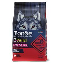 Monge Dog BWild Low Grain Adult All Breeds Deer / Сухой Низкозерновой корм Монж Бивайлд для взрослых собак всех пород мясо Оленя