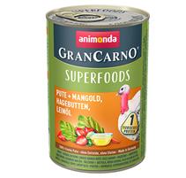 Animonda GranCarno Superfoods Lamm + Amaranth / Консервы Анимонда для взрослых собак с Ягненком + амарант клюква лососевое масло (цена за упаковку)