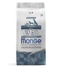 Monge Dog Monoprotein Adult All Breeds Trout Rice Potatoes / Сухой корм Монж Монопротеиновый для собак всех пород Форель с рисом и картофелем