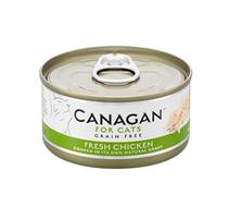 Canagan GF Fresh Chicken / Полнорационные Беззерновые консервы Канаган для кошек Цыпленок (цена за упаковку)