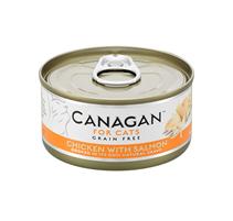 Canagan GF Chicken with Salmon / Полнорационные Беззерновые консервы Канаган для кошек Цыпленок с Лососем (цена за упаковку)