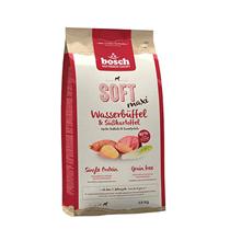 Bosch Soft Maxi Wasserbueffel & Susskartoffel / Полувлажный Монопротеиновый Беззерновой корм Бош для собак Крупных пород Буйвол Батат