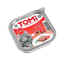 TOMi Veal & Poultry / Паштет Томи для кошек Телятина с Птицей (цена за упаковку)