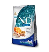 Farmina N&D Ocean Line Adult Mini Codfish Spelt Oats Orange Low Grain / Сухой Низкозерновой корм Фармина для взрослых собак Мелких пород Треска с Пшеницей Овсом и Апельсином