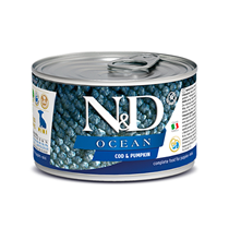 N&D Puppy Ocean Cod & Pumpkin / Консервы Фармина для Щенков Треска с Тыквой (цена за упаковку)