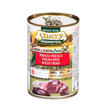 Stuzzy Monoprotein Grain & Gluten free Manzo / Консервы Штуззи Монопротеиновые для собак Свежая Говядина (цена за упаковку)