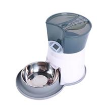 SuperDesign Auto Feeder / Автокормушка Супер Дизайн для кошек и собак Бело-серая