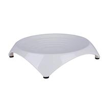 SuperDesign Square Ripple Cat Dish / Миска Супер Дизайн Меламиновая Белая