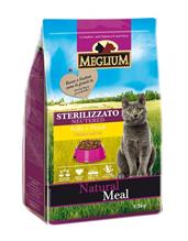 Meglium Sterilizzato Neutered Chicken Fish / Сухой корм Меглиум для Стерилизованных кошек Курица Рыба