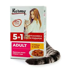 Karmy Adult / Паучи Карми для взрослых кошек Курица в желе (цена за упаковку)