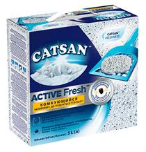 Catsan Active Fresh / Наполнитель для кошачьего туалета Катсан Комкующийся