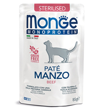 Monge Monoprotein Sterilised Beef / Влажный корм Паучи Монж для Стерилизованных кошек Говядина (цена за упаковку)