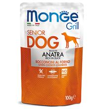 Monge DogGrillSeniorDuck / Влажный корм Паучи Монж Гриль для Пожилых собак Утка (цена за упаковку)