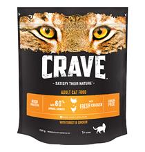 Crave Adult Cat Turkey & Chicken / Сухой Беззерновой корм Крэйв для взрослых кошек Курица и Индейка