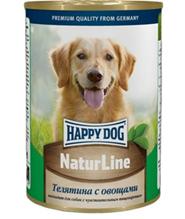 Happy Dog NaturLine / Консервы Хэппи Дог для собак Телятина с Овощами (цена за упаковку, Россия)