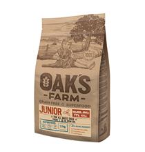 OAKs FARM Junior All Breeds Salmon & Krill Grain free / Сухой Беззерновой корм Оакс Фарм для Щенков всех пород от 3 до 12 месяцев Лосось и Криль