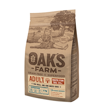 OAKs FARM Dog Adult Small Mini Breeds White Fish Grain free / Сухой Беззерновой корм Оакс Фарм для взрослых собак Мелких и Карликовых пород Белая рыба