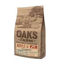 OAKs FARM Dog Adult All Breeds Lamb Grain free / Сухой Беззерновой корм Оакс Фарм для взрослых собак всех пород Ягненок