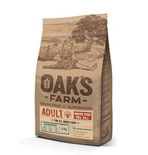OAKs FARM Dog Adult All Breeds White Fish Grain free / Сухой Беззерновой корм Оакс Фарм для взрослых собак всех пород Белая рыба