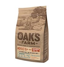 OAKs FARM Dog Adult 6+ Small Mini Breeds Salmon Grain free / Сухой Беззерновой корм Оакс Фарм для Пожилых собак старше 6 лет Мелких и Карликовых пород Лосось