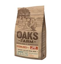 OAKs FARM Cat Adult Sterilised Lamb Grain free / Сухой Беззерновой корм Оакс Фарм для взрослых Стерилизованных кошек Ягненок