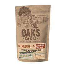 OAKs FARM Cat Senior Sterilised 8+ Salmon Grain free / Сухой Беззерновой корм Оакс Фарм для Пожилых Стерилизованных кошек старше 8 лет Лосось