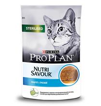 Purina Pro Plan Cat NutriSavour Sterilised / Паучи Пурина Про План для Стерилизованных кошек Паштет с Треской (цена за упаковку)