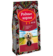 Родные Корма 20-10 / Сухой корм для взрослых собак Всех пород