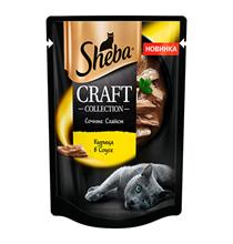 Sheba Craft / Паучи Шеба для кошек Сочные слайсы Курица в соусе (цена за упаковку)