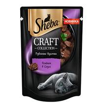 Sheba Craft / Паучи Шеба для кошек Рубленые кусочки Ягненок в соусе (цена за упаковку)