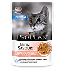 Purina Pro Plan Cat NutriSavour Housecat Salmon / Паучи Пурина Про План для Домашних кошек Лосось в соусе (цена за упаковку)