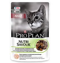 Purina Pro Plan Cat NutriSavour Adult Lamb / Паучи Пурина Про План для Взрослых кошек старше 1 года Ягнёнок в желе (цена за упаковку)