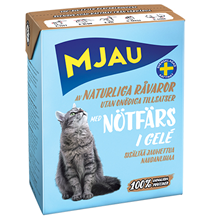 Mjau chunks in jelly with minced Beef / Консервы Мяу для кошек Мясные кусочки в желе с рубленой Говядиной (цена за упаковку)