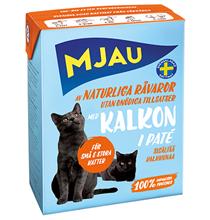 Mjau pate with Turkey / Консервы Мяу для кошек Мясной паштет с Индейкой (цена за упаковку)