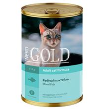 NERO GOLD Adult Mixed Fish / Консервы Неро Голд для кошек Рыбный коктейль (цена за упаковку)