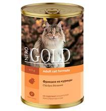 NERO GOLD Adult Chicken fricassee / Консервы Hеро Голд для кошек фрикасе из Курицы (цена за упаковку)