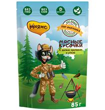 Мнямс Влажный корм Паучи для кошек Пир охотника Утка Кролик Дичь (цена за упаковку)