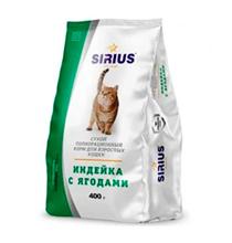 Sirius / Сухой корм Сириус для взрослых кошек Индейка с ягодами