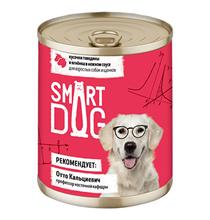 Smart Dog / Консервы Смарт Дог для взрослых собак и щенков Кусочки Говядины и ягненка в нежном соусе (цена за упаковку)