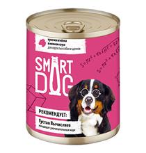 Smart Dog / Консервы Смарт Дог для взрослых собак и щенков Кусочки Ягненка в нежном соусе (цена за упаковку)