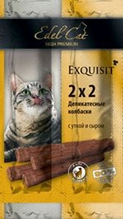 Edel Cat / Деликатесные Колбаски-мини для кошек Утка и Сыр 1х4