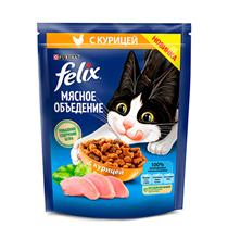 Felix Мясное объедение / Сухой корм Феликс для кошек с Курицей