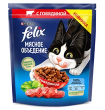 Felix Мясное объедение / Сухой корм Феликс для кошек с Говядиной