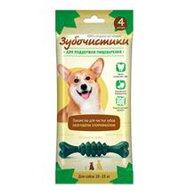Зубочистики Лакомство для собак 10 - 25 кг для Поддержки пищеварения с Хлорофиллом и мятой