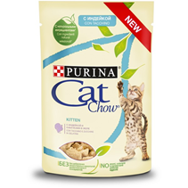 Purina Cat Chow Turkey / Паучи Пурина Кэт Чау для Котят с Индейкой и кабачками в желе (цена за упаковку)