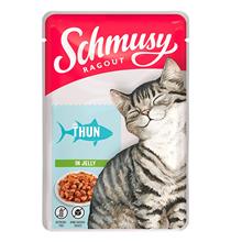 Schmusy Cat Ragout Tuna in gelly / Паучи Шмузи для кошек кусочки Тунца в желе (цена за упаковку)