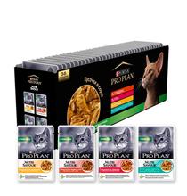 Purina Pro Plan Cat NutriSavour Sterilised Multipack / Паучи Пурина Про План для Стерилизованных кошек Ассорти вкусов в соусе Курица Говядина Утка Океаническая Рыба (цена за упаковку)