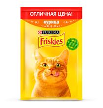 Friskies / Паучи Фрискис для кошек Курица (цена за упаковку)
