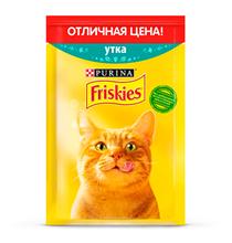 Friskies / Паучи Фрискис для кошек Утка (цена за упаковку)